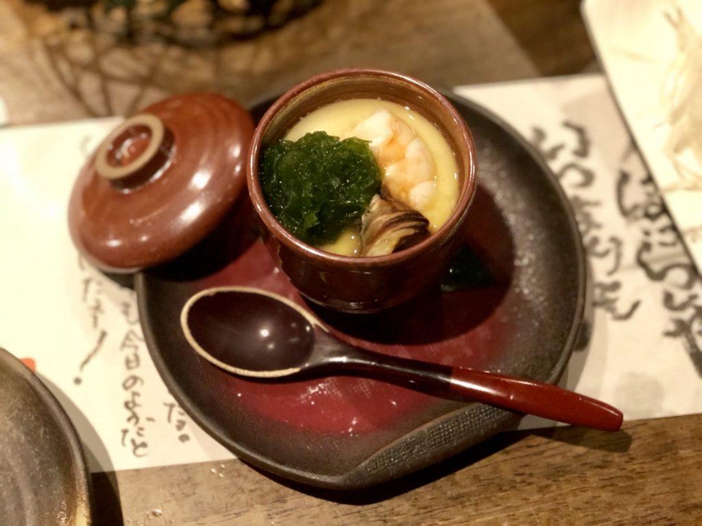 奄美大島の誇羅司屋の海鮮茶碗蒸し