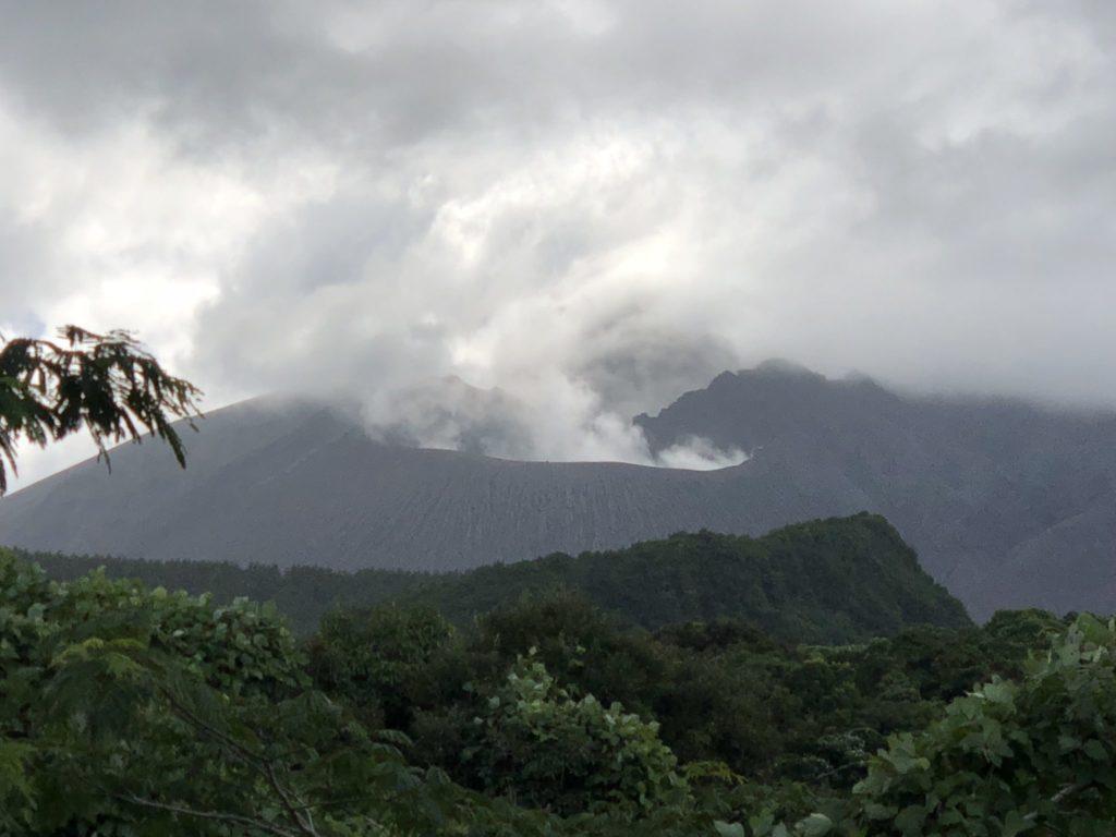桜島の噴火口