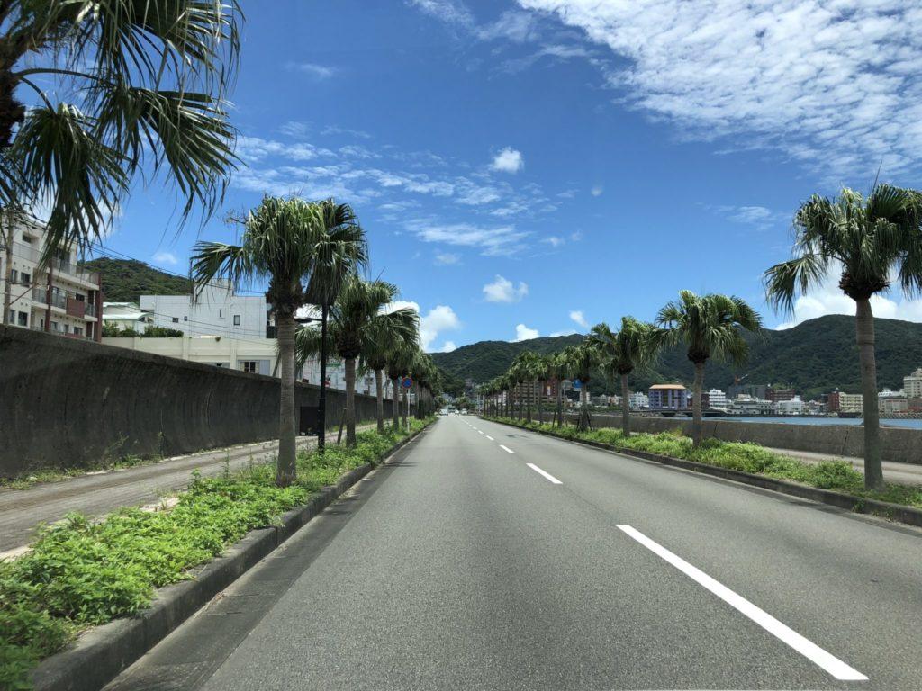奄美大島の名瀬市内