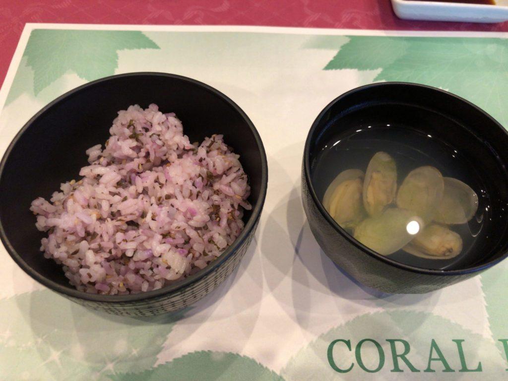 奄美大島のコーラルパームスの夕食