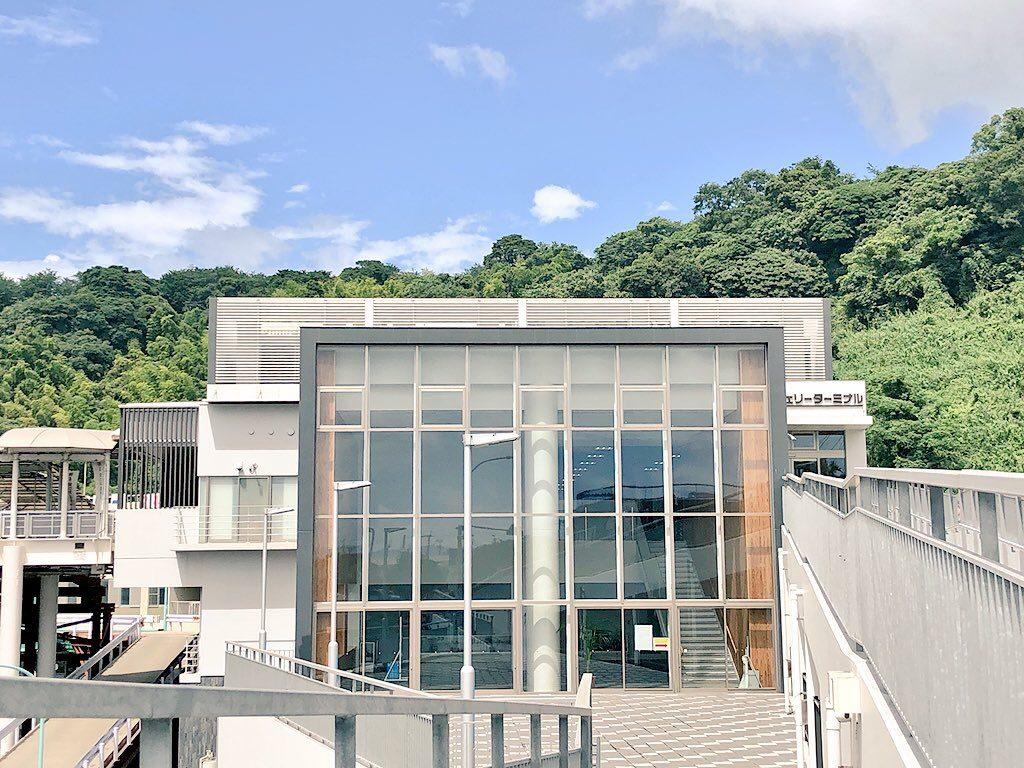 桜島フェリーターミナルの外観