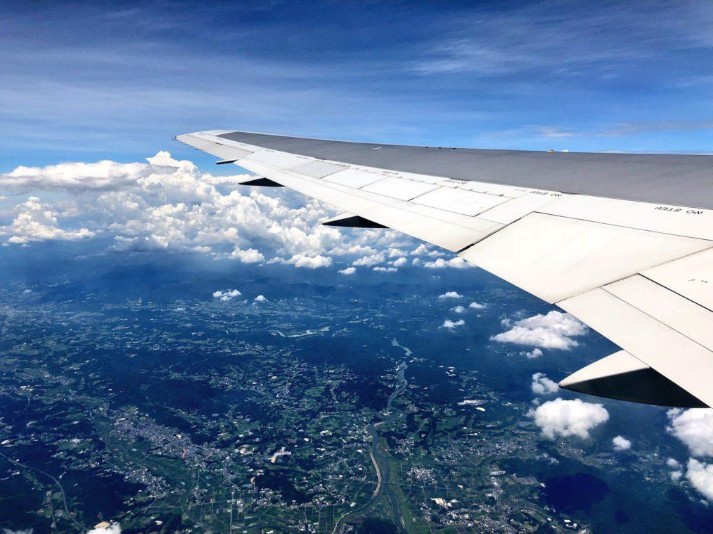 鹿児島空港上空からの眺望