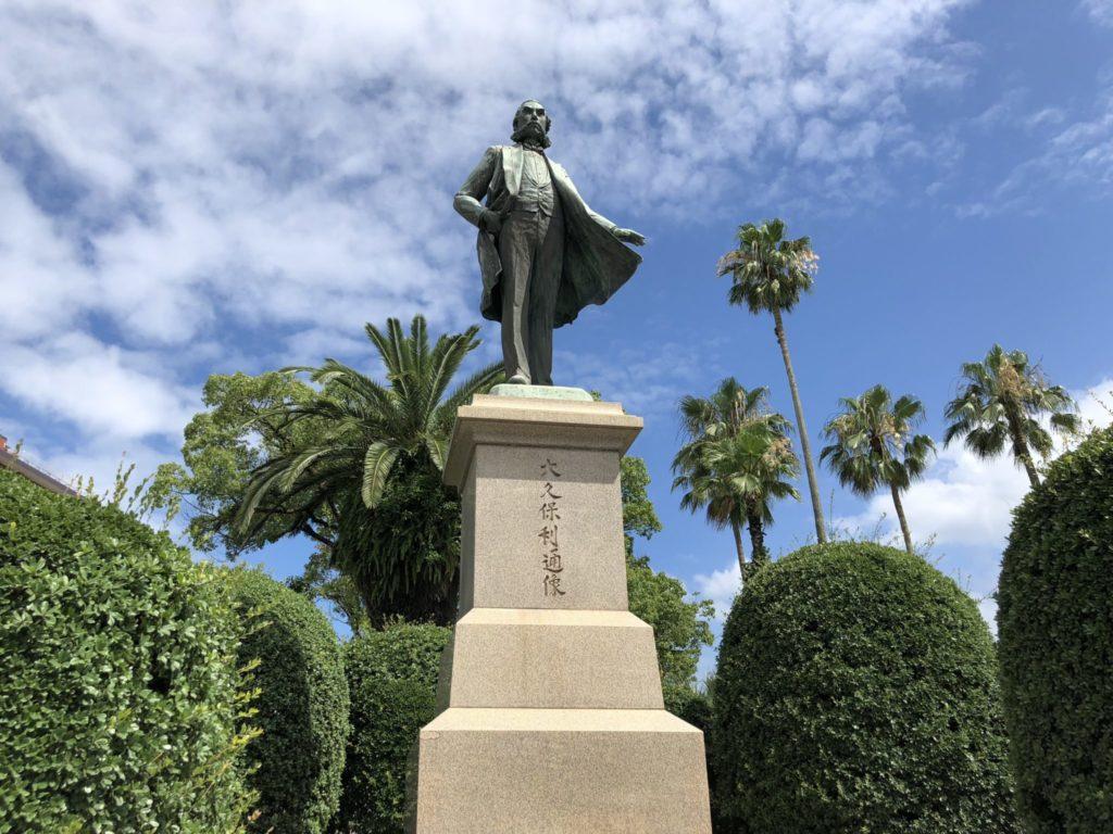 鹿児島市内の大久保利通像