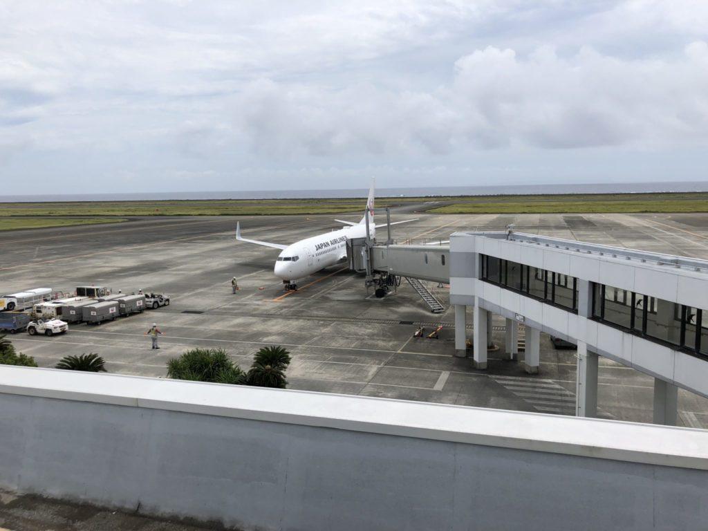 奄美空港の展望デッキ