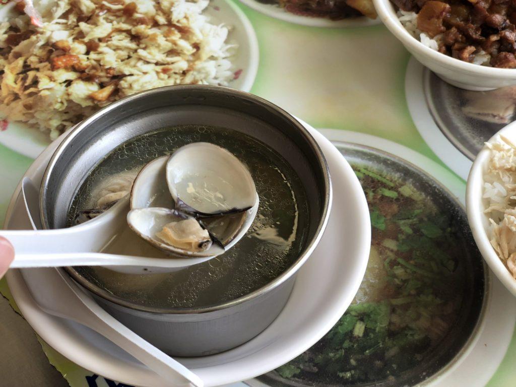 大円環鶏肉飯の蛤スープ