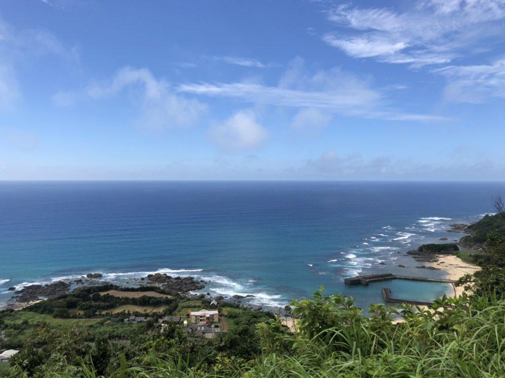 2つの海が見える場所