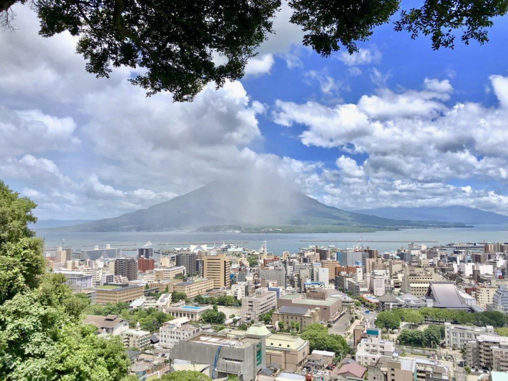 城山展望台から見た桜島