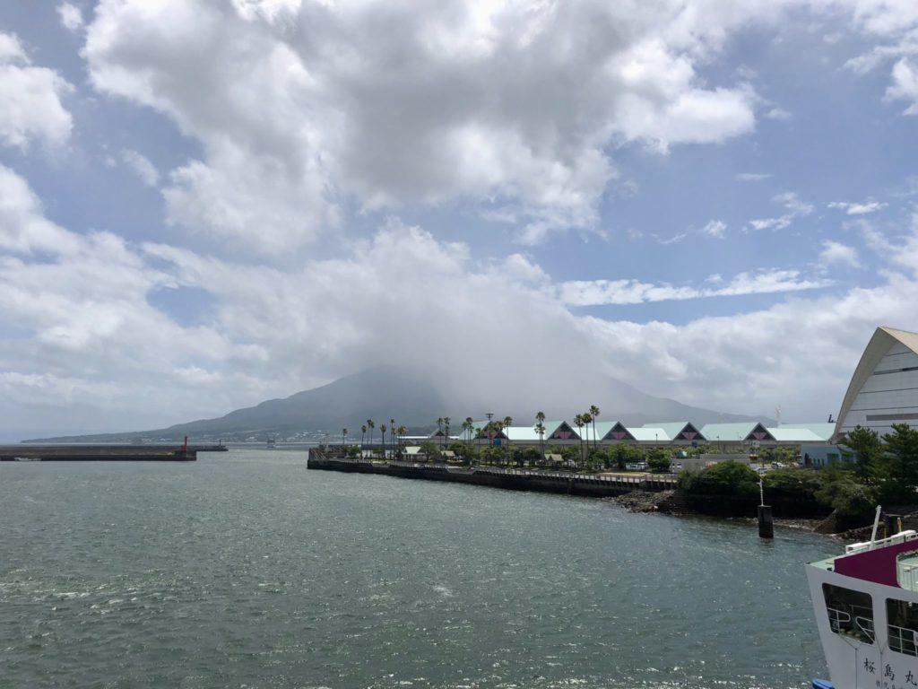 桜島フェリーからの眺め