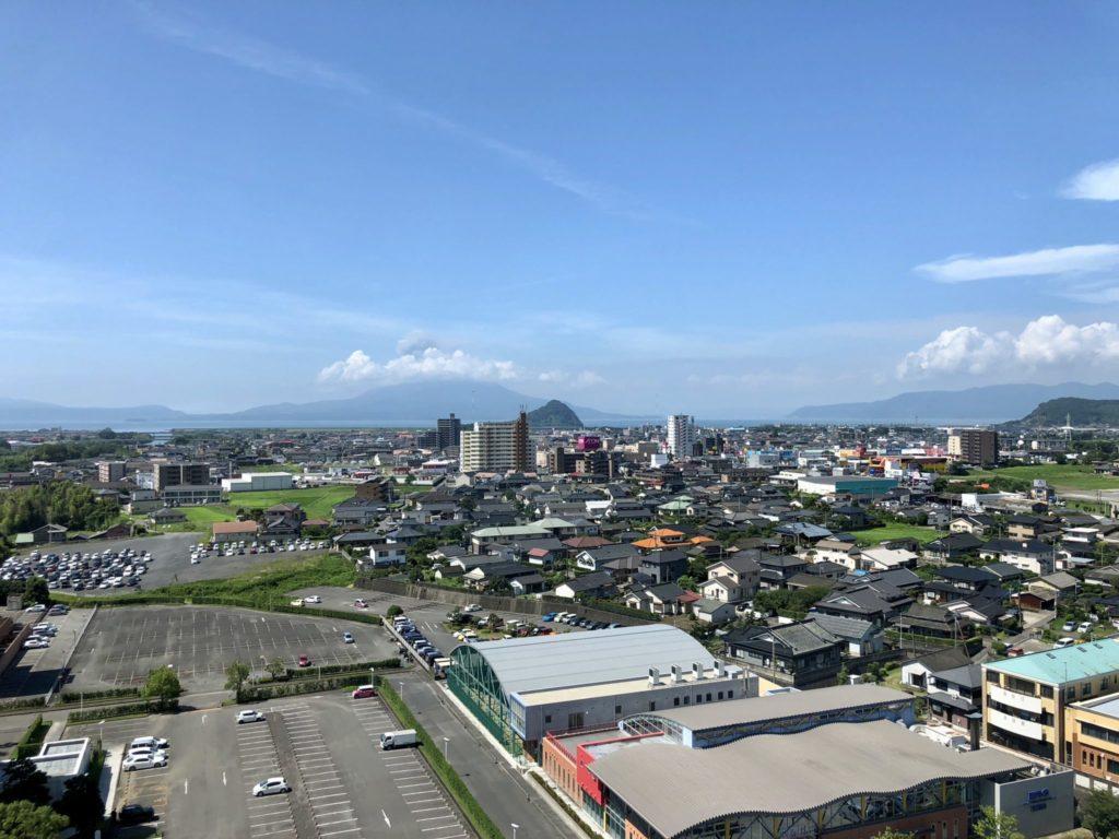 ホテル京セラの部屋からの桜島