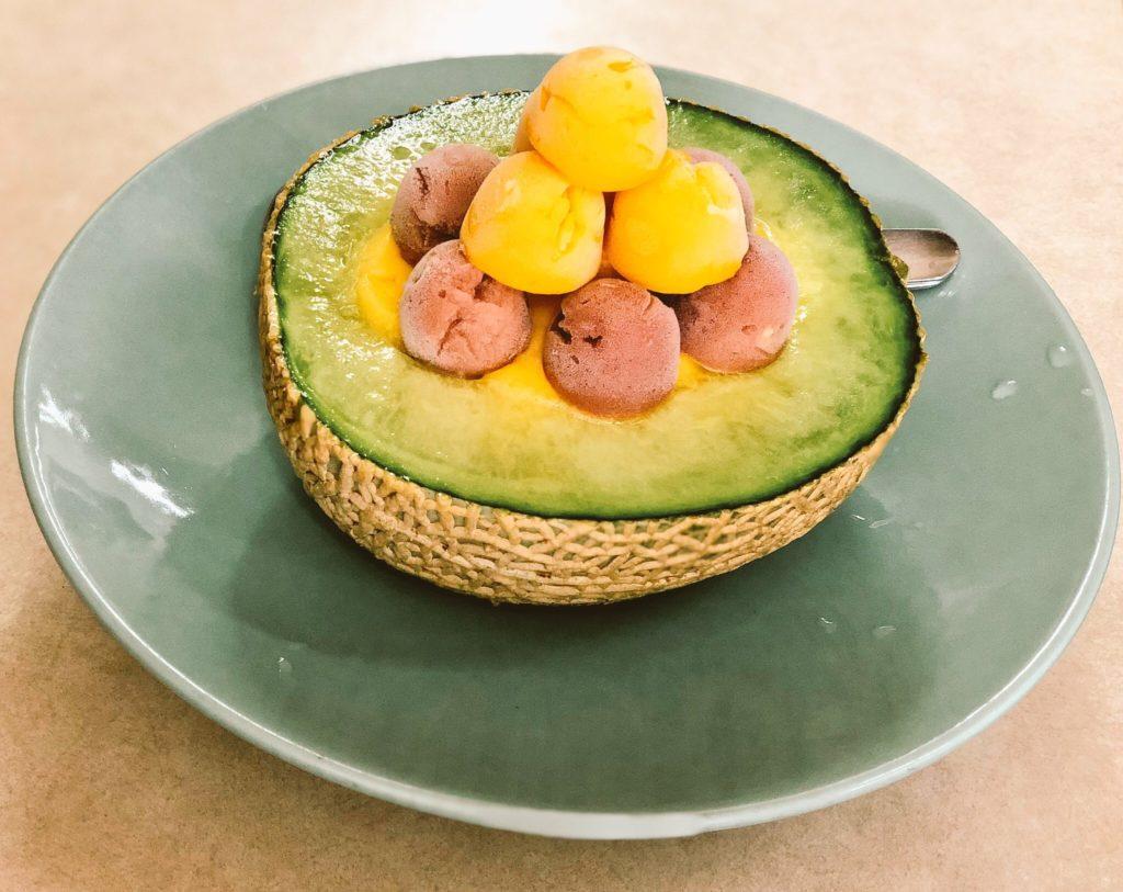 泰成水果氷店のメロンデザート