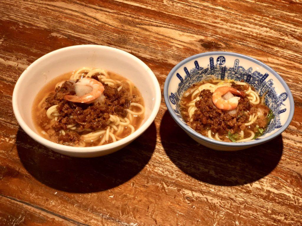 台南の度小月の担仔麺