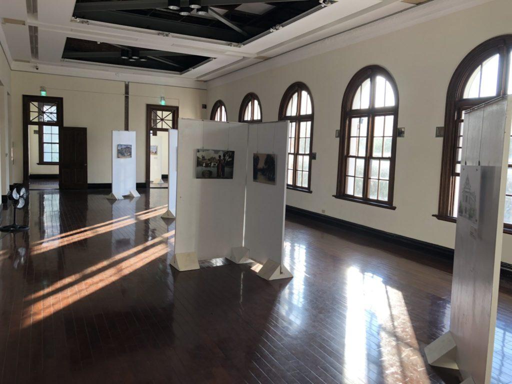 台中の旧市役所の2階の展示スペース