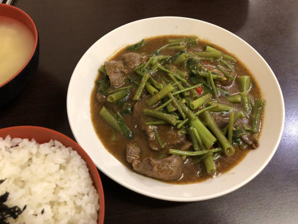 範記金之園草袋飯の牛肉定食