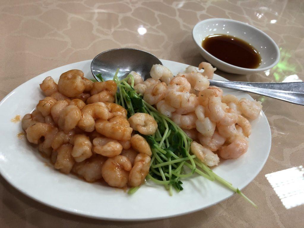 台中の沁園春の海老炒め