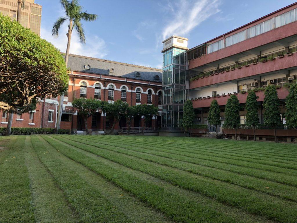 台中の旧市政府の中庭
