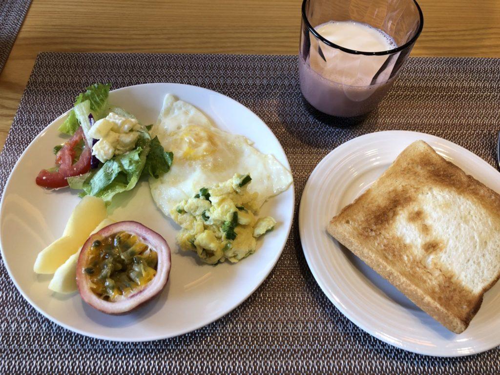 日月潭のサンムーンレイクブルースカイベイの朝食